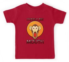 Cute Funny Brown Monkey With Big Open Mouth Meme T-Shirt Kids Tee