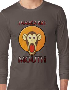Cute Funny Brown Monkey With Big Open Mouth Meme T-Shirt Long Sleeve T-Shirt