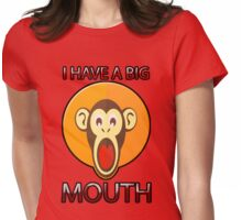 Cute Funny Brown Monkey With Big Open Mouth Meme T-Shirt Womens Fitted T-Shirt