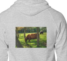 The grass is greener under the trees Zipped Hoodie