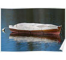 boat on lake Poster