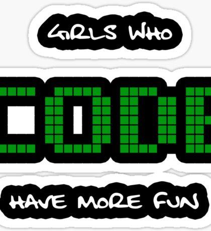 GIRLS WHO CODE Sticker