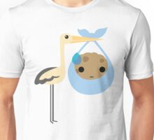Stork with Baby Cookie Emoji Sweat and Speechless Unisex T-Shirt