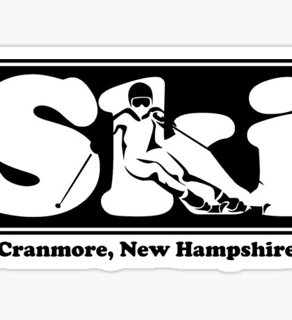 Cranmore, New Hampshire SKI Graphic for Skiing your favorite mountain, city or resort town Sticker