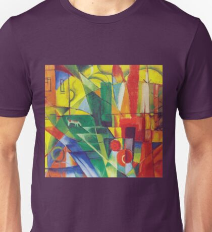 Franz Marc - Landscape With House, Dog and Cow- Expressionism Unisex T-Shirt