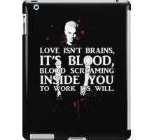 BLOOD; SPIKE (WITH TEXT) iPad Case/Skin