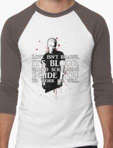BLOOD; SPIKE (WITH TEXT) Men's Baseball ¾ T-Shirt