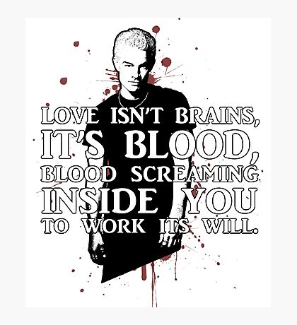 BLOOD; SPIKE (WITH TEXT) Photographic Print