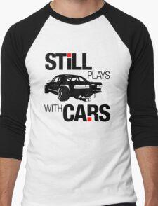Still plays with cars (1) Men's Baseball ¾ T-Shirt