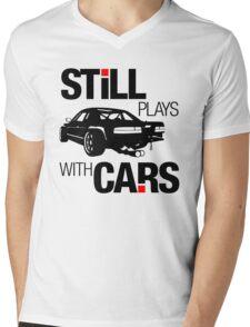 Still plays with cars (1) Mens V-Neck T-Shirt