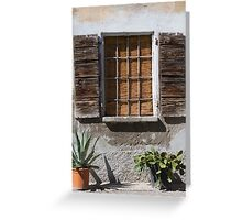 window of thw house Greeting Card