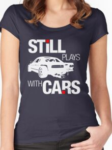 Still plays with cars (2) Women's Fitted Scoop T-Shirt
