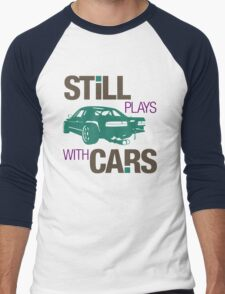 Still plays with cars (3) Men's Baseball ¾ T-Shirt