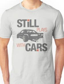 Still plays with cars (4) Unisex T-Shirt