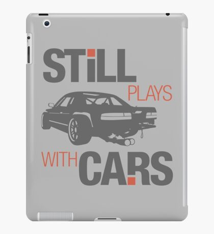 Still plays with cars (4) iPad Case/Skin