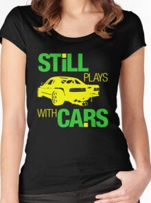 Still plays with cars (5) Women's Fitted Scoop T-Shirt