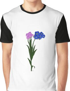 Flower Forget Me Not 12117 Graphic T-Shirt