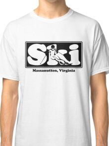 Massanutten, Virginia  SKI Graphic for Skiing your favorite mountain, city or resort town Classic T-Shirt