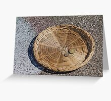 basket with alms Greeting Card