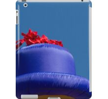 blue hat iPad Case/Skin