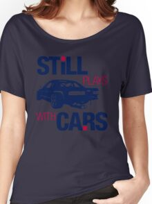 Still plays with cars (6) Women's Relaxed Fit T-Shirt
