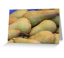 pears on the table Greeting Card