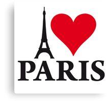 I LOVE PARIS Canvas Print