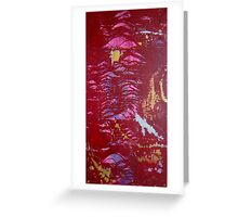 Python Abstract original artwork Greeting Card