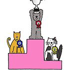 Cats' success in cat show, congratulaions you're a winner. by KateTaylor