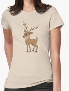 Christmas Reindeer Womens Fitted T-Shirt