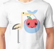 Stork with Baby Apple Emoji Pretty Please Unisex T-Shirt