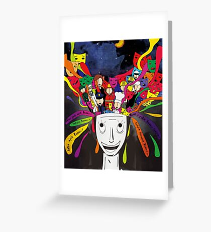 future mind of indonesia teenager Greeting Card