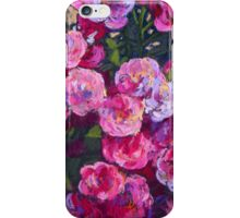 A bush of small pink roses iPhone Case/Skin