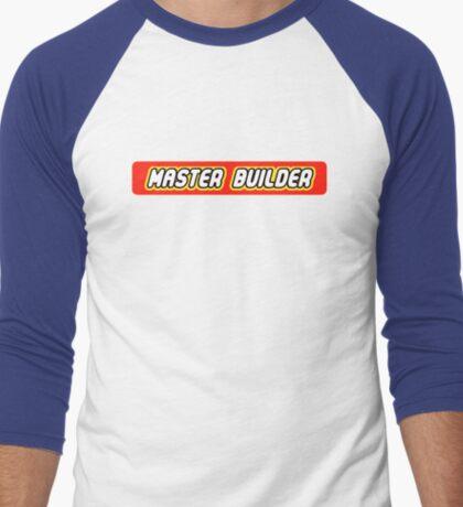 Master Builder Graphic for Expert Builders Men's Baseball ¾ T-Shirt