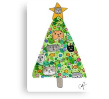 Christmas for the Cat Lovers Canvas Print
