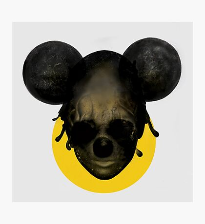 Weird Mickey Mouse Photographic Print