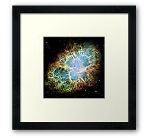 Hubble Picture of the Crab Nebula Framed Print