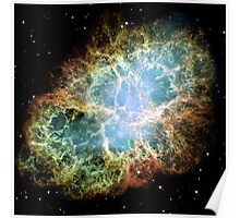 Hubble Picture of the Crab Nebula Poster