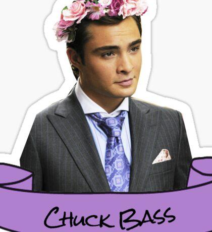 chuck bass flower crown sticker Sticker