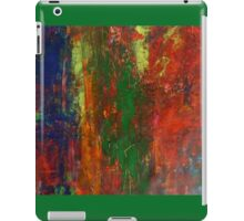 Horizon Red Sunset Landscape Modern Abstract Painting in Acrylic  iPad Case/Skin