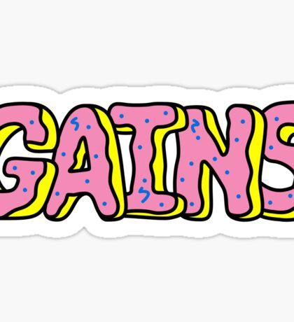 Donut Gains Sticker