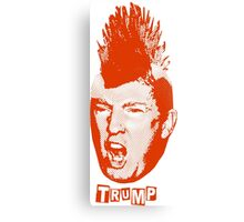 Trump Is The New Punk (Red Graphic) Canvas Print
