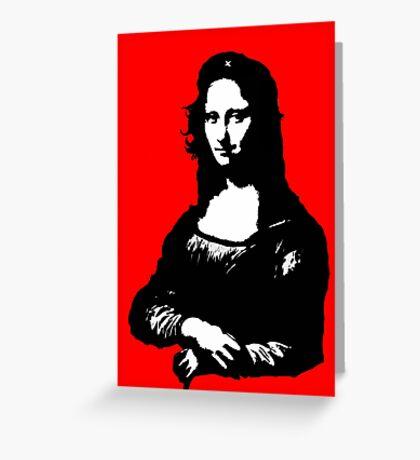 Mona Lisa- Che Guevara Style Greeting Card
