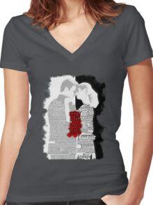 Yin Needs Yang Women's Fitted V-Neck T-Shirt