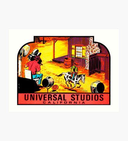 Universal Studios California Vintage Travel Decal Art Print