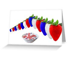 English Strawberries and Cream Greeting Card