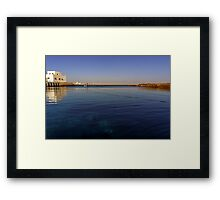 out to the deep blue sea Framed Print