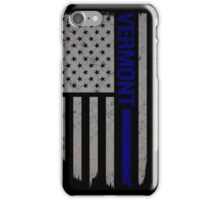 Vermont Thin Blue Line American Flag T-Shirt iPhone Case/Skin