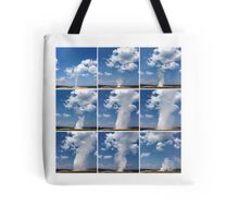 Eruption of Old Faithful Tote Bag