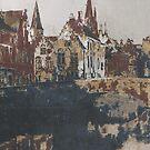 cloudy in Brugge by Nikolay Semyonov